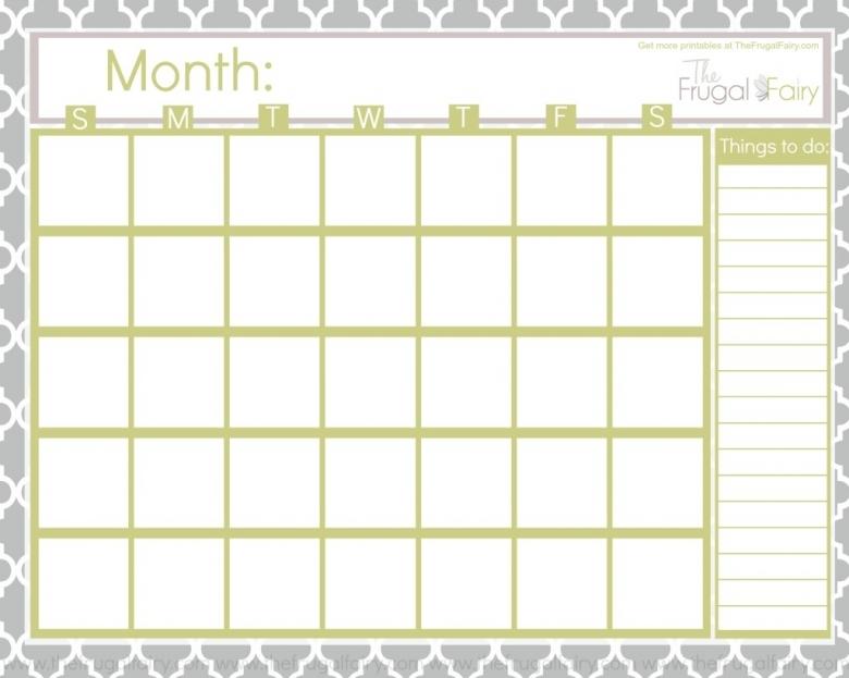 Free Blank Printable Calendar Printables Pinterest Cases 89uj