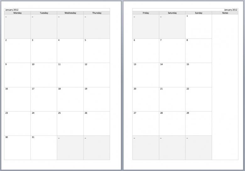 Two Page Calendar Templates 2017 Calendar Printable3abry