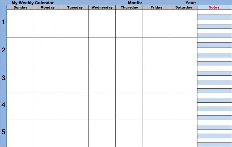 Weekly Calendar With Time Slots Template Weekly Calendar Template3abry