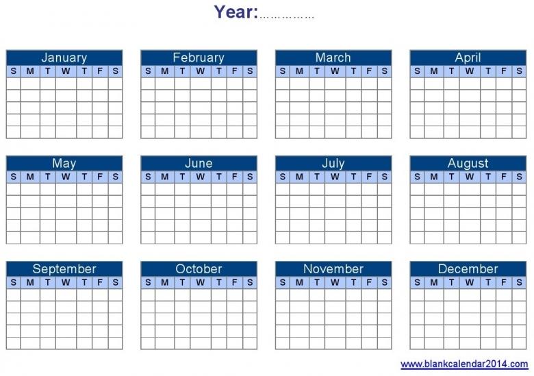 Yearly Calendar Template Word Calendar Printable Free  Xjb