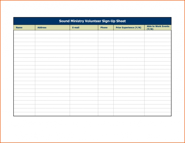 11 Event Sign In Sheet Template Survey Template Words3abry