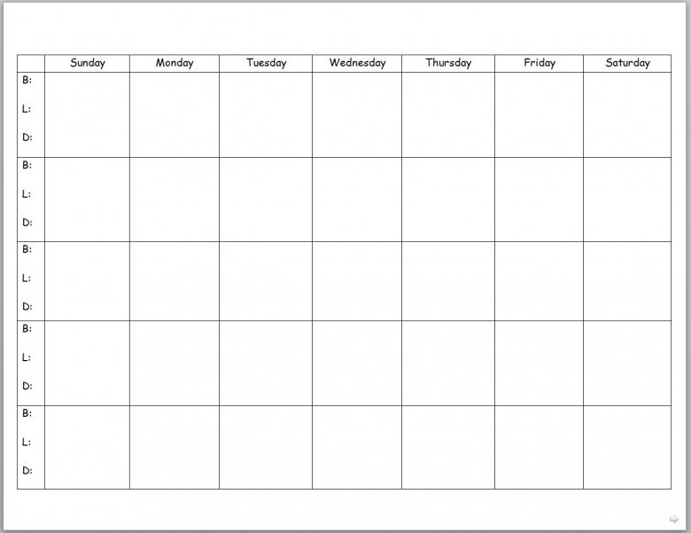 Blank 1 Month Calendar Calendars 20173abry