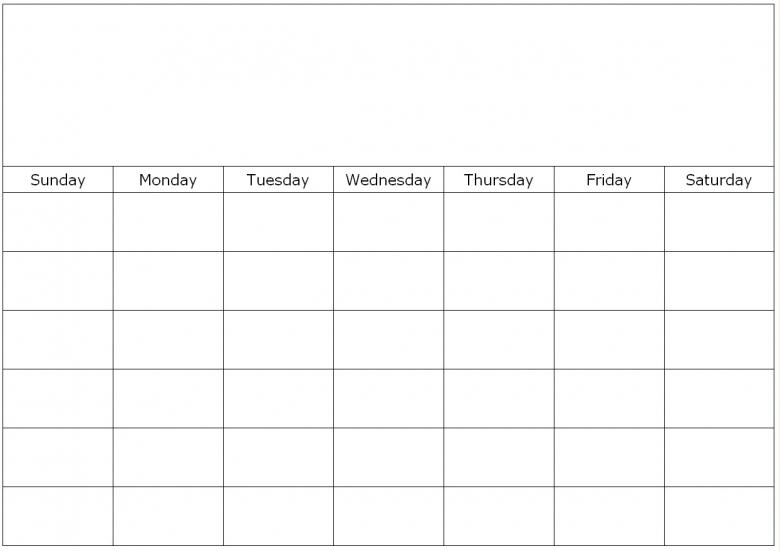 Fill In Blank Calendar Printable Online Calendar3abry