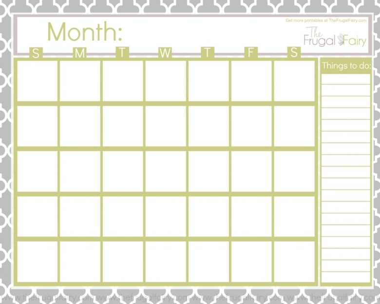 Free Blank Printable Calendar Printables Pinterest Discover3abry