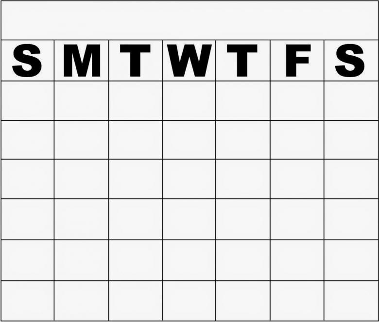 Monday Through Friday Monthly Calendar Template Calendar Template3abry