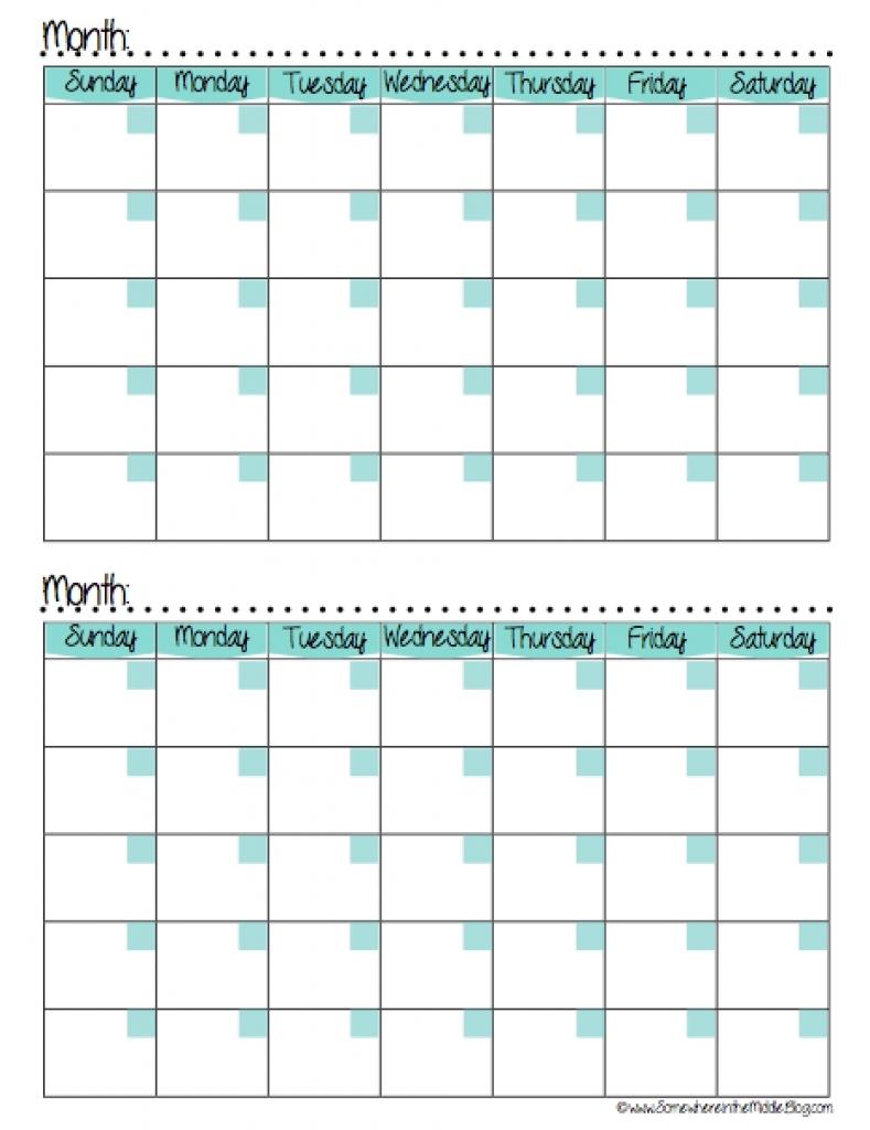 Printable Calendar 2 Months Per Page Printable Online Calendar3abry