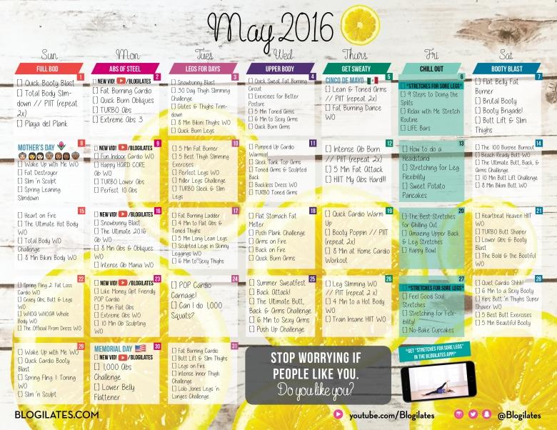 May 2016 Blogilates Workout Calendar3abry