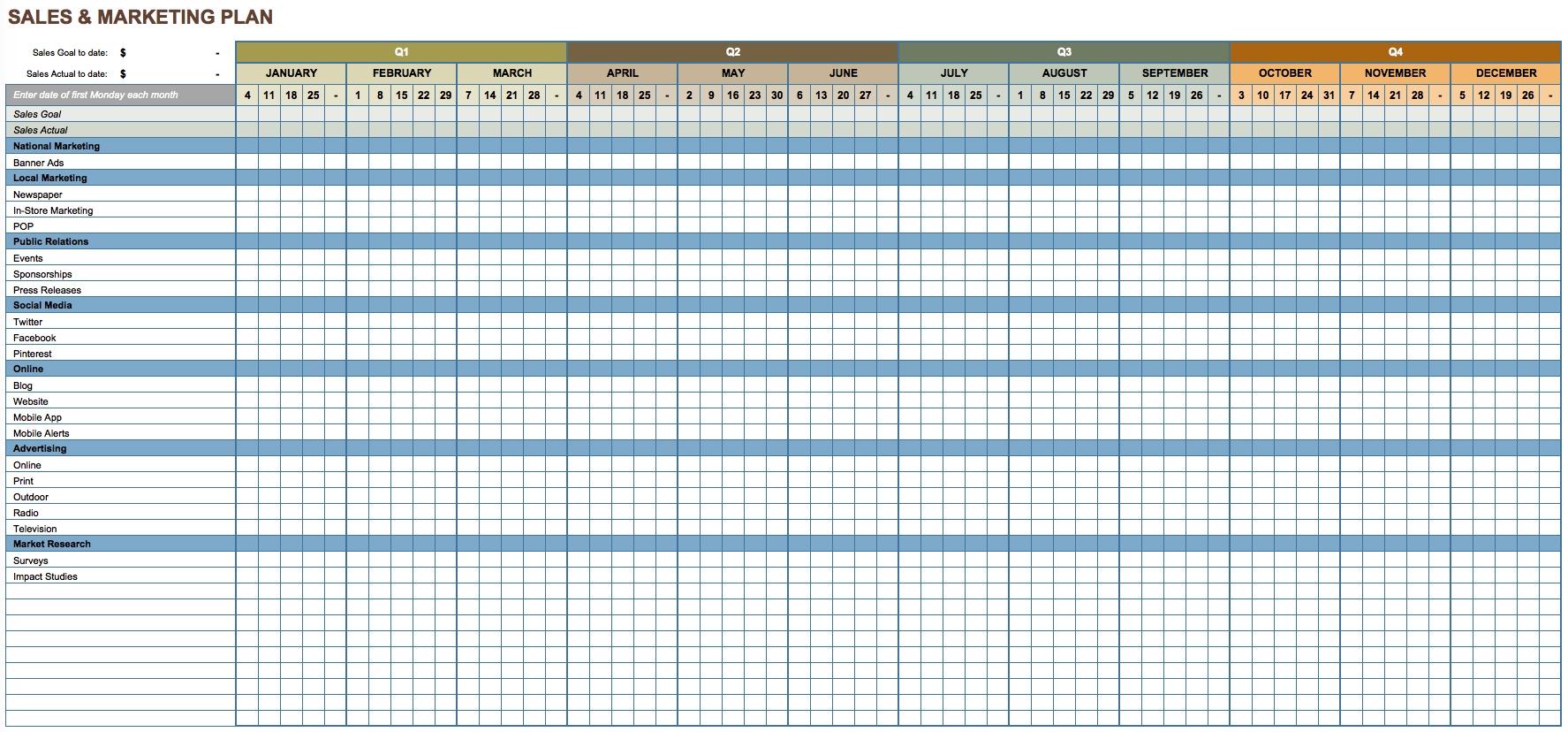 Annual Training Calendar Template Calendar Template 20173abry