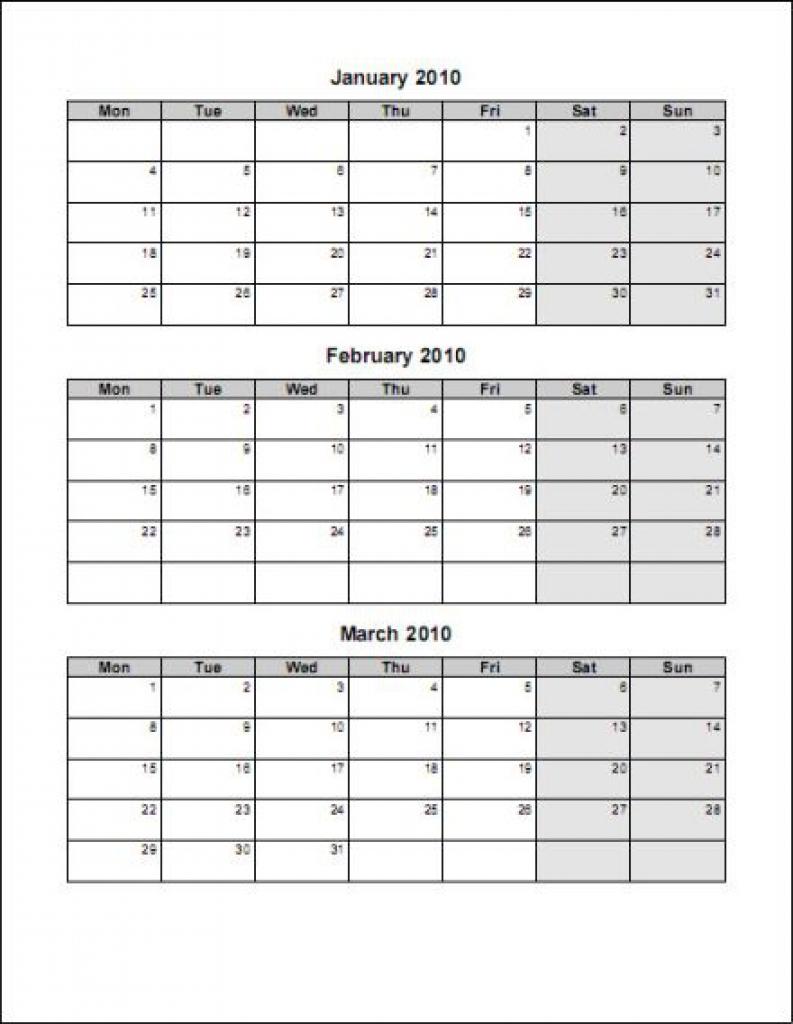 Free Printable 3 Month Calendar Printable Online Calendar 89uj