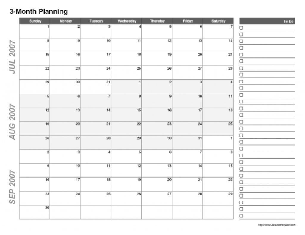 Printable 3 Month Calendar Printable Calendar Templates 2018 89uj