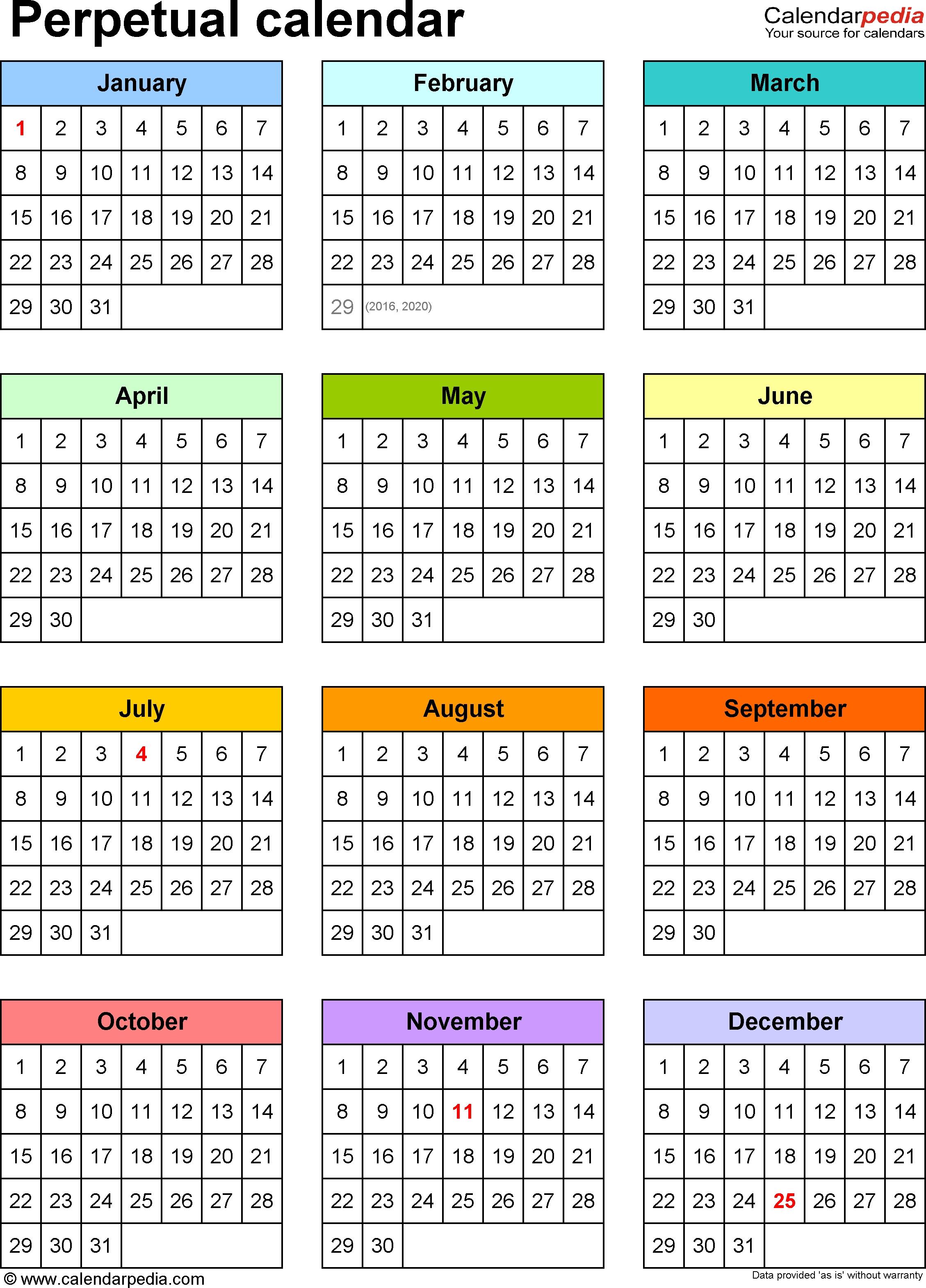 100 Year Calendar Template Calendar Template 2017