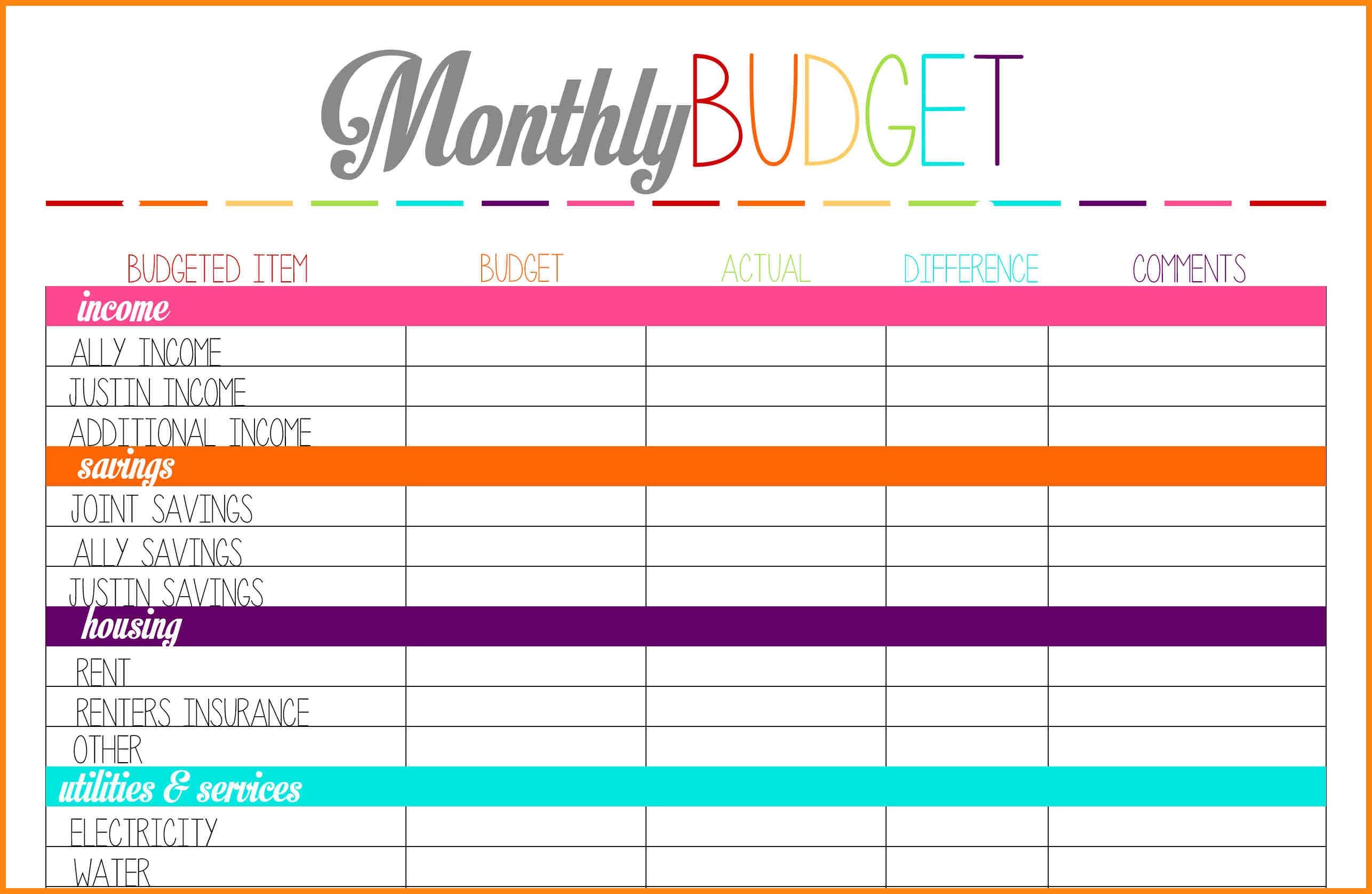 11 Printable Budget Calendar Nurse Resumed3abry