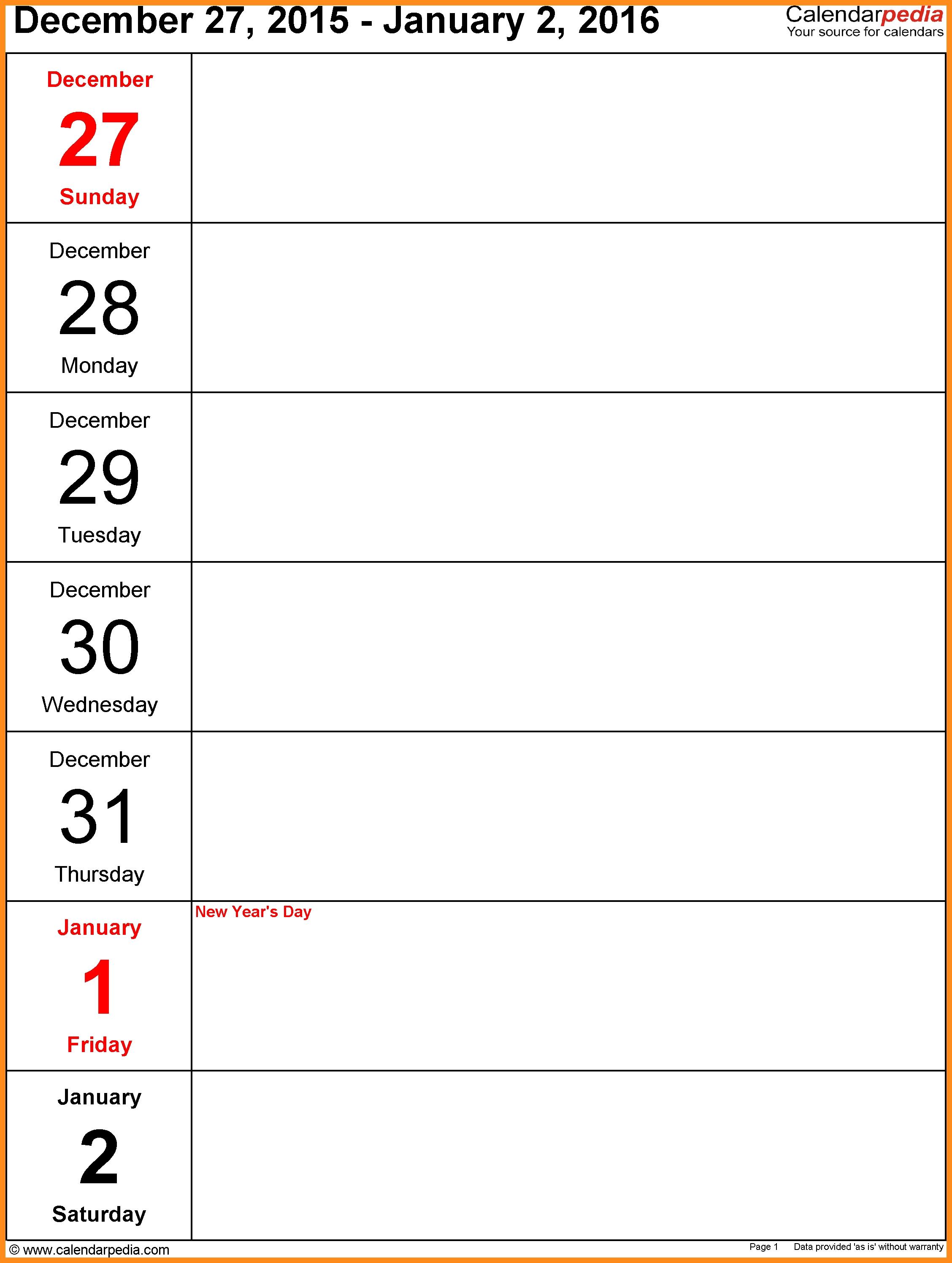 11 Work Week Calendar Template Agenda Example  Xjb