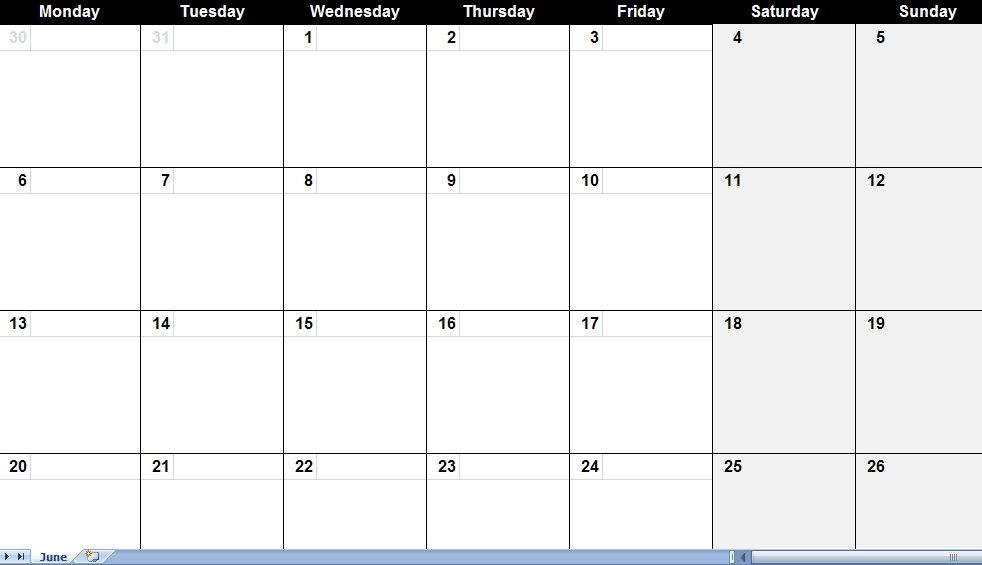 16 Blank Printable Weekly Calendars Templates Images Blank