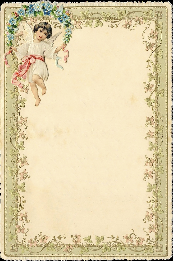 1899 Victorian Romantic Notecards Freebies Printable Romantic  Xjb