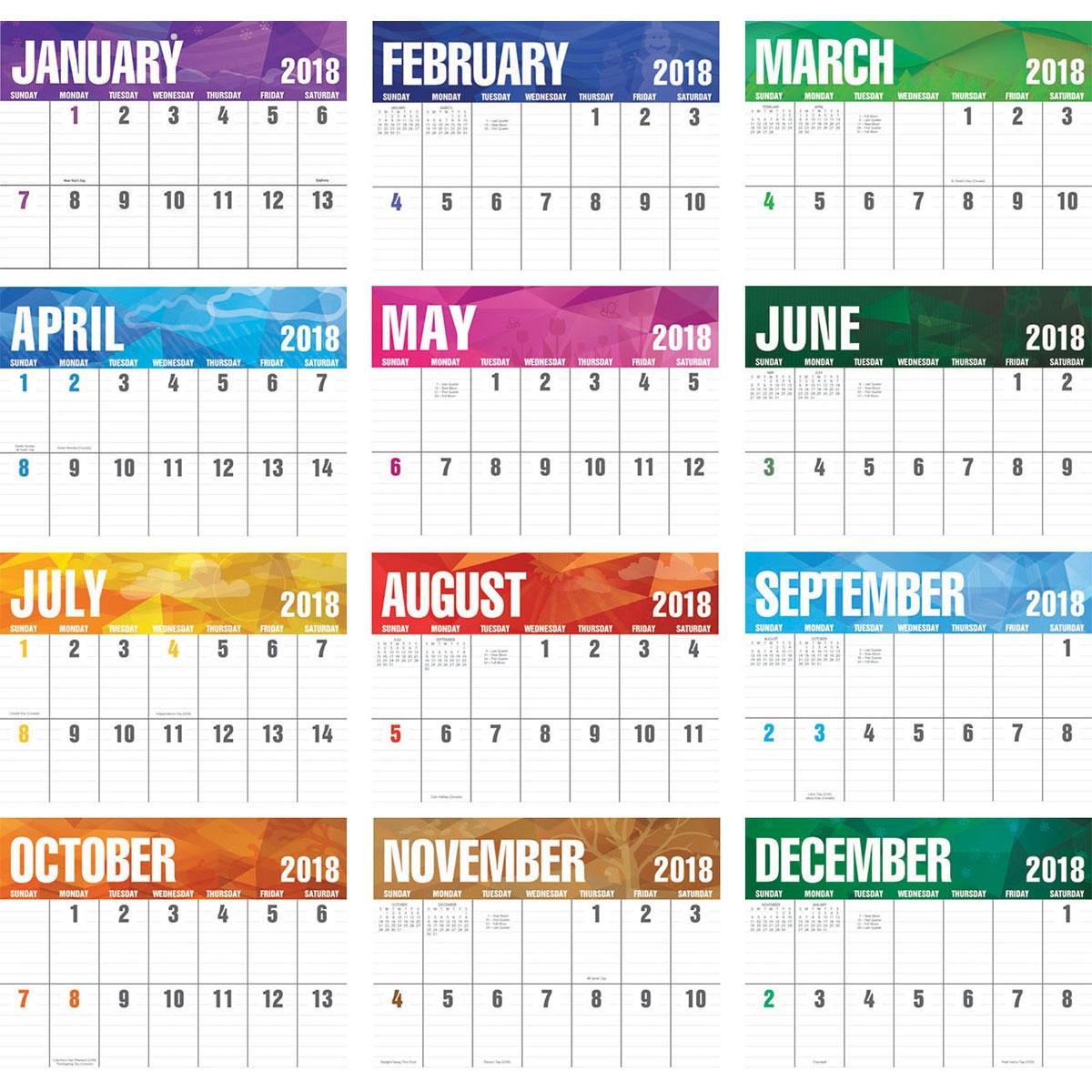 2018 Big Block Calendar 2018 Imprinted Calendars 2018 Calendar 89uj