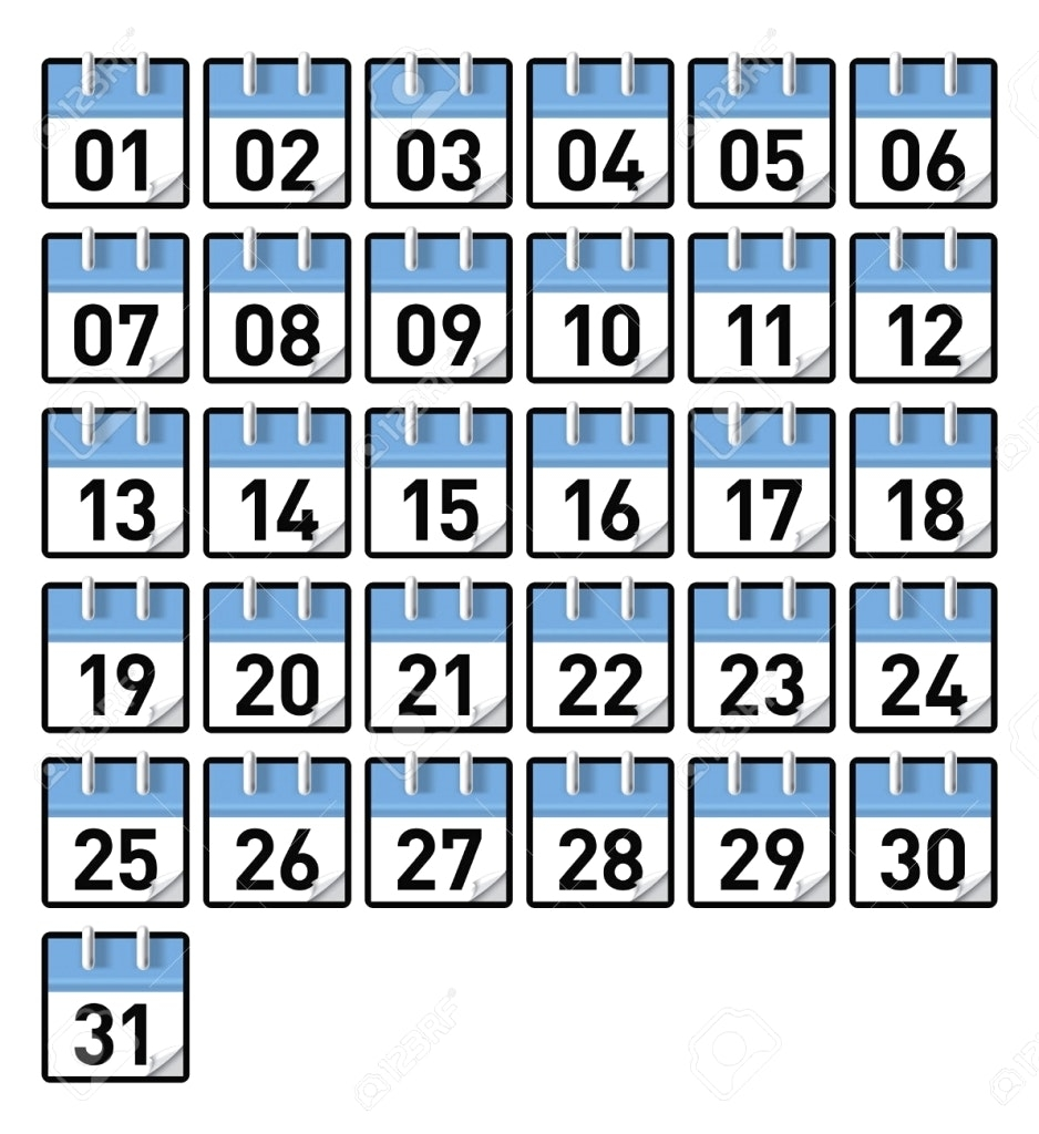 2018 Printable Calendar Numbers 1 31 Best Calendar 2018 Template3abry