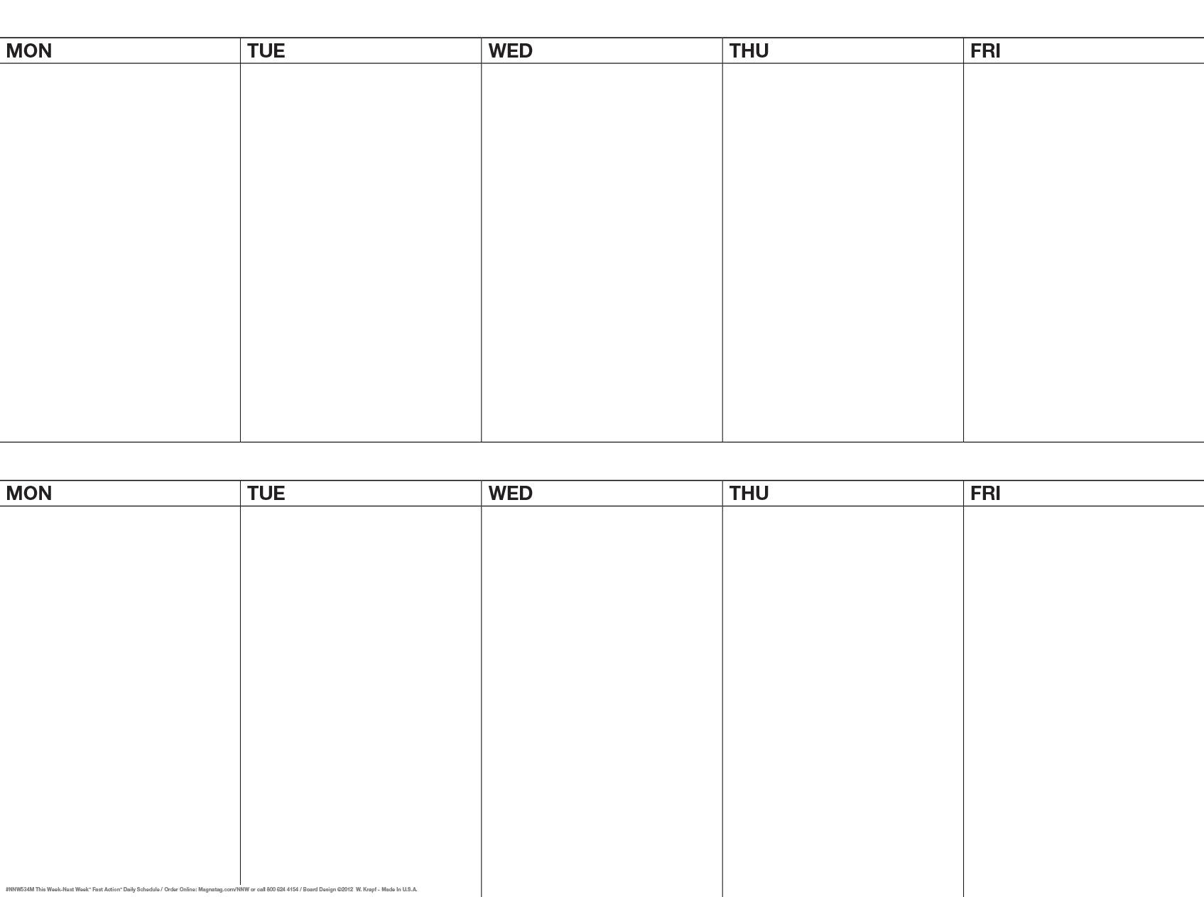 3 X 4 5day 2 Week Dry Erase Magnetic Calendarwrite On Kit Nnw534t  Xjb