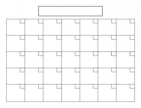 31 Day Blank Printable Calendar Printable Calendar Template 2018