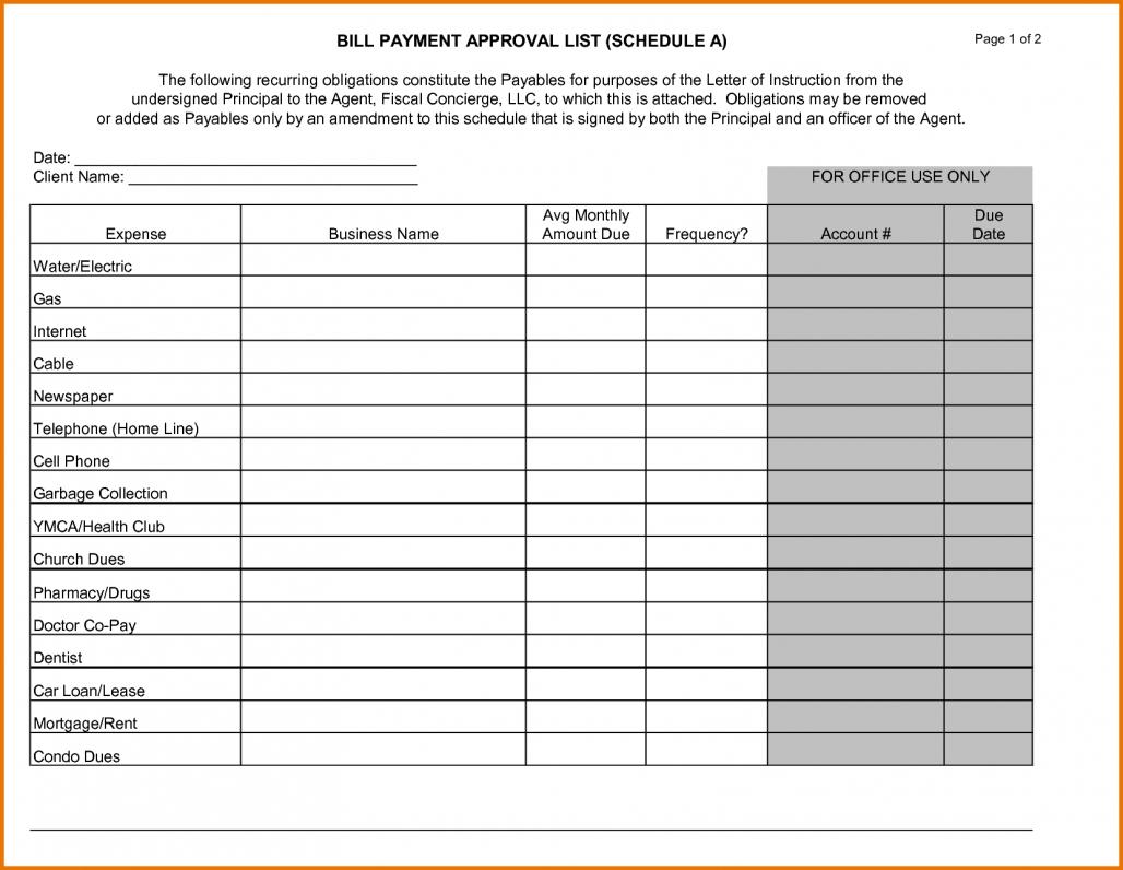 44 Bill Payment Calendar Template New Scholarschair