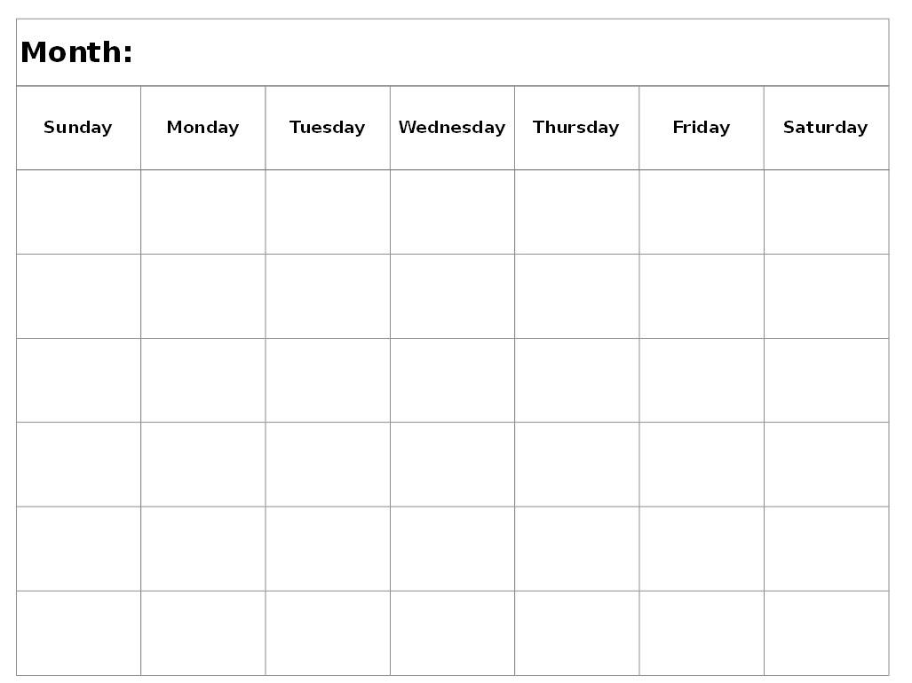6 Week Printable Calendar 2016 Calendar Template Weekly Calendar  Xjb
