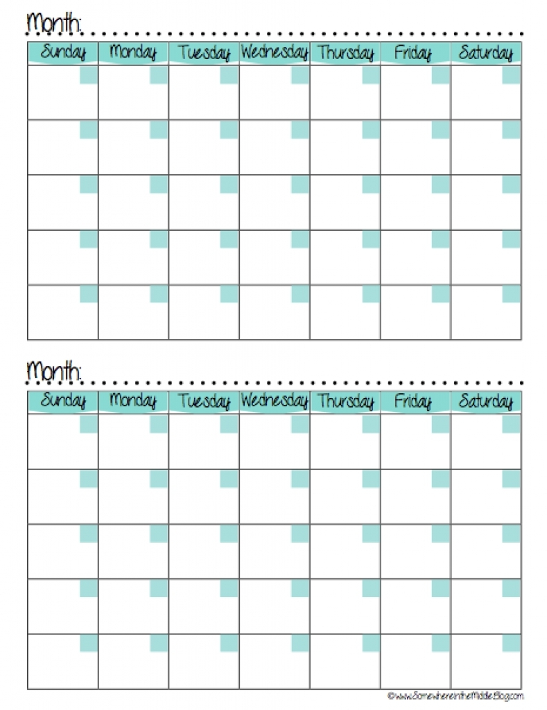7 Best Images Of 2 Month Calendar Template Printable Free Sample3abry