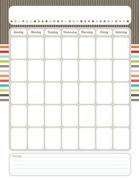 Best 25 Blank Calendar Ideas On Pinterest Free Blank Calendar