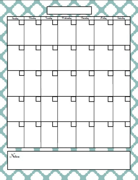 Best 25 Printable Monthly Calendar Ideas On Pinterest Print
