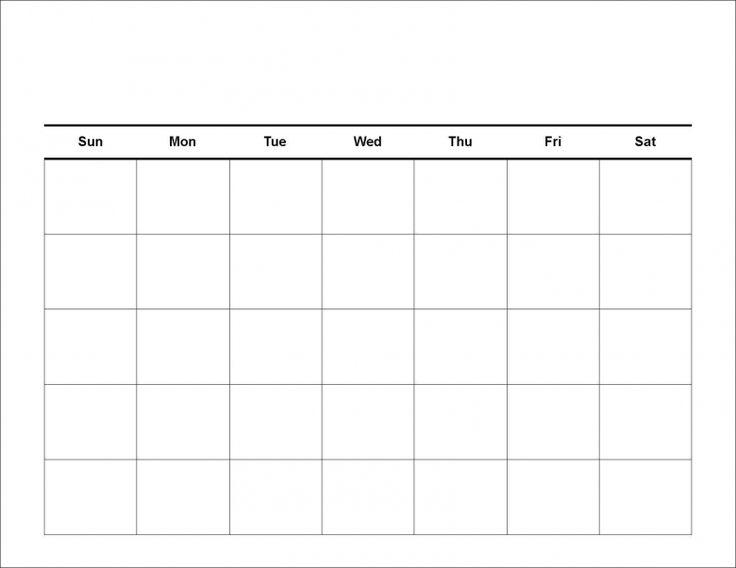 Blank 2017 Calendar Printable Weekly Calendar
