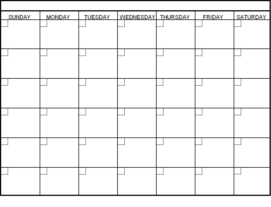 Blank 30 Day Calendar Pages Blank Calendar Pinterest 30 Day