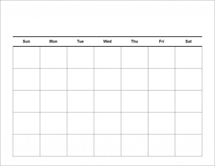 Blank 4 Week Calendar Yun56co