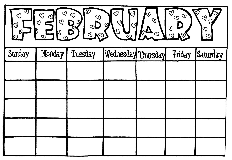 Blank Calendars For Kids Printable Online Calendar Images3abry