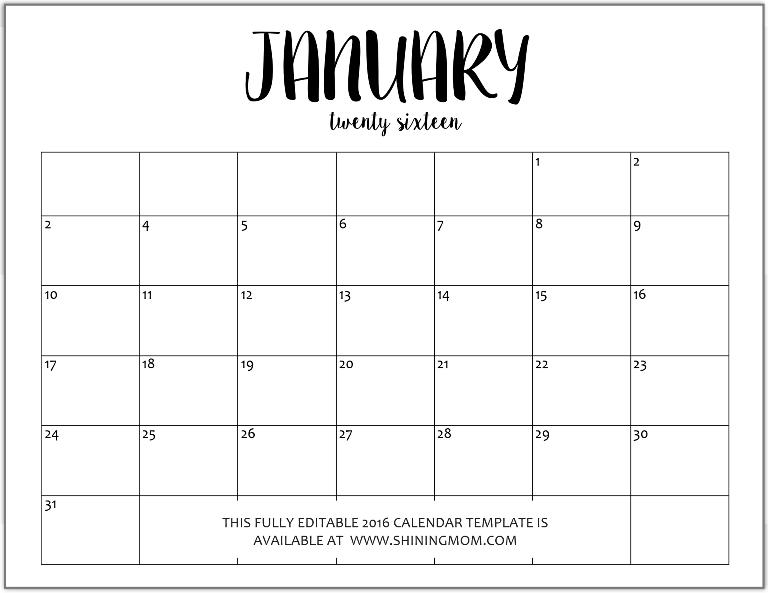 Blank Fillable Calendar Fieldstationco