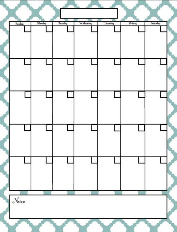 Blank Printable Calendar Blank 2013 Calendar 1 Daily Calendars