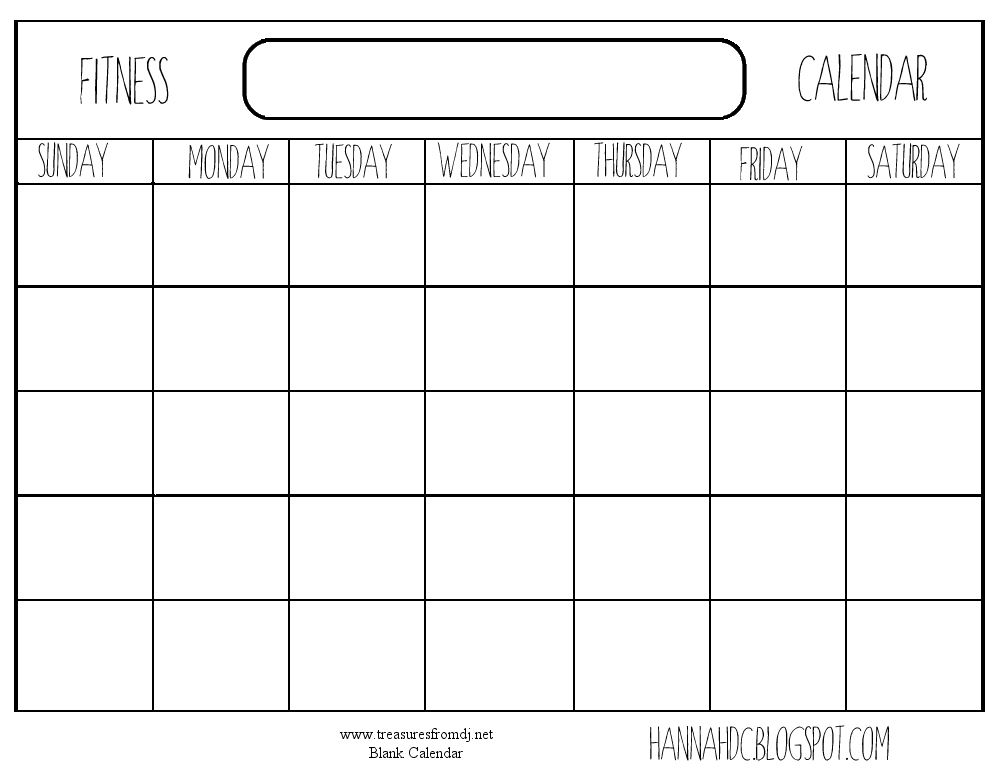 Blank Workout Schedule Template Commonpenceco