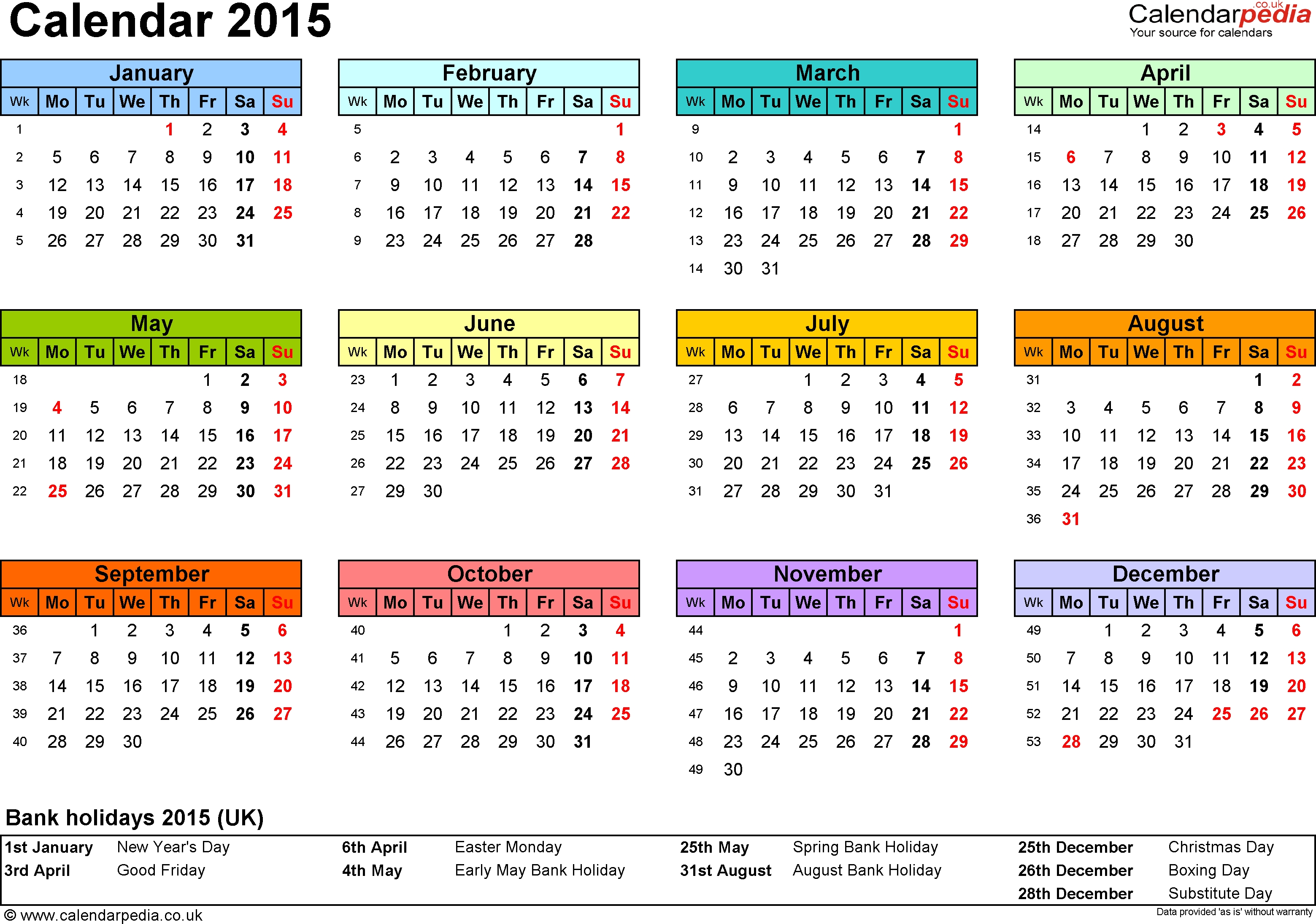 Bold Printable Calendar Calendar Template 20173abry