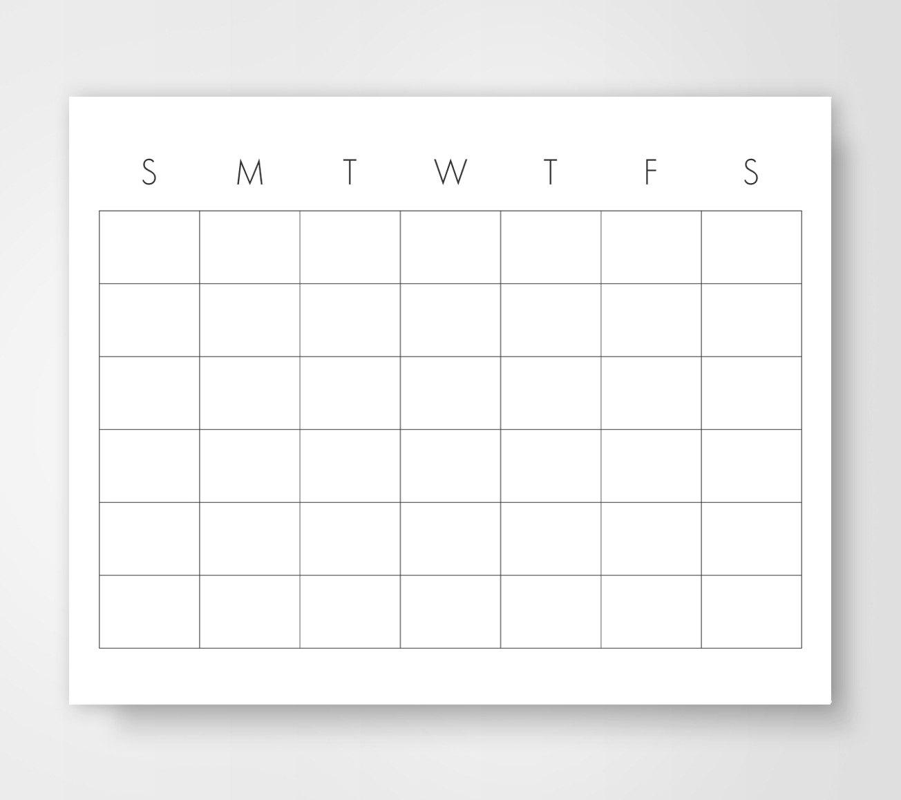 Calendar Template 85 X 11 2018 January Calendar