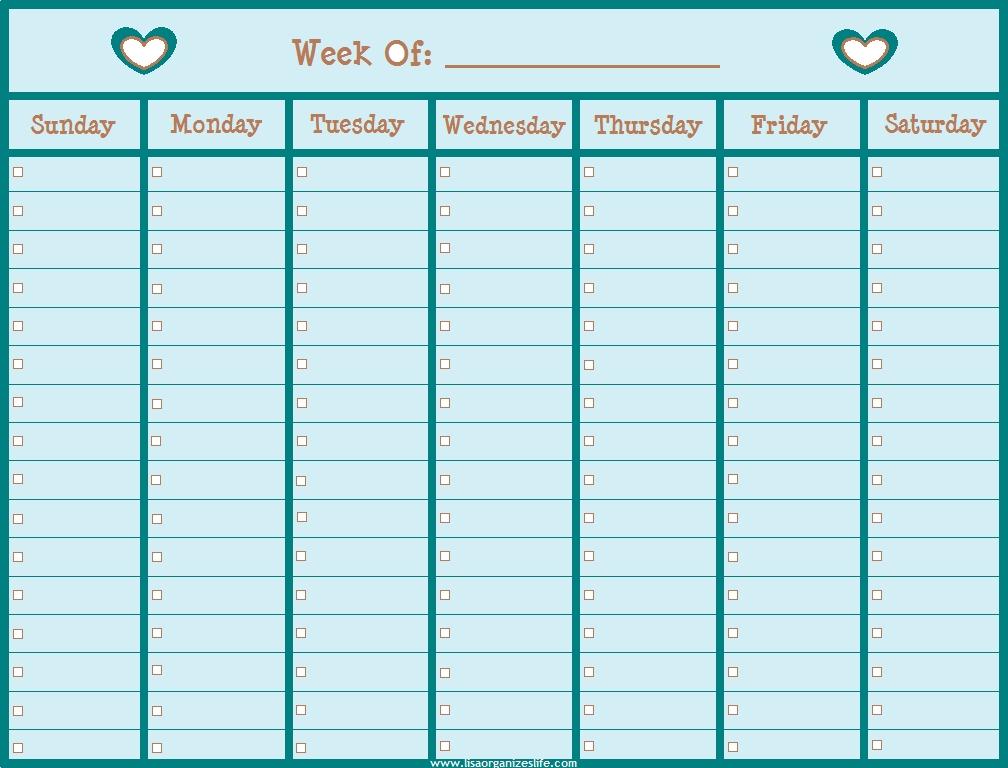 Calendar Weekly Planner Fieldstationco