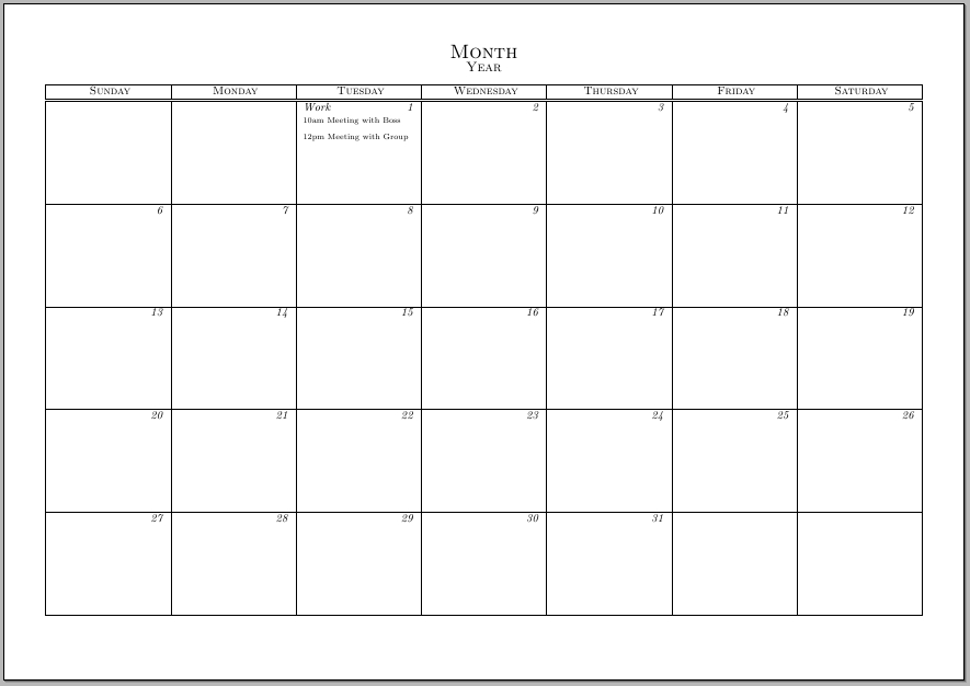 Cool 7 Day Calendar Template Ideas Example Resume And Template