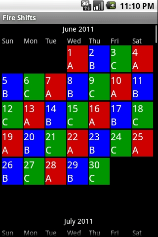 Fire Shifts Fire Fighter And Ems Calendars For Android Ios