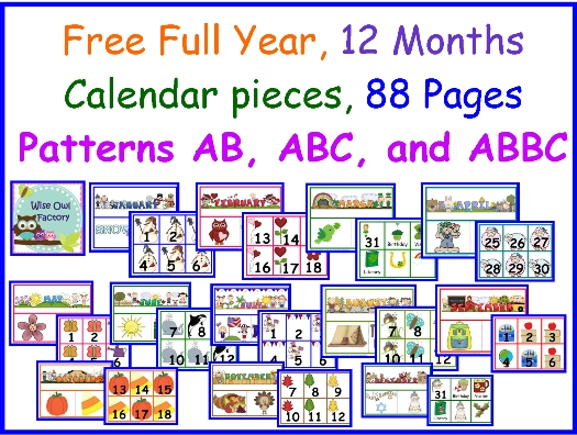Free Full Year Of Calendar Numbers And Headers Calendar Numbers
