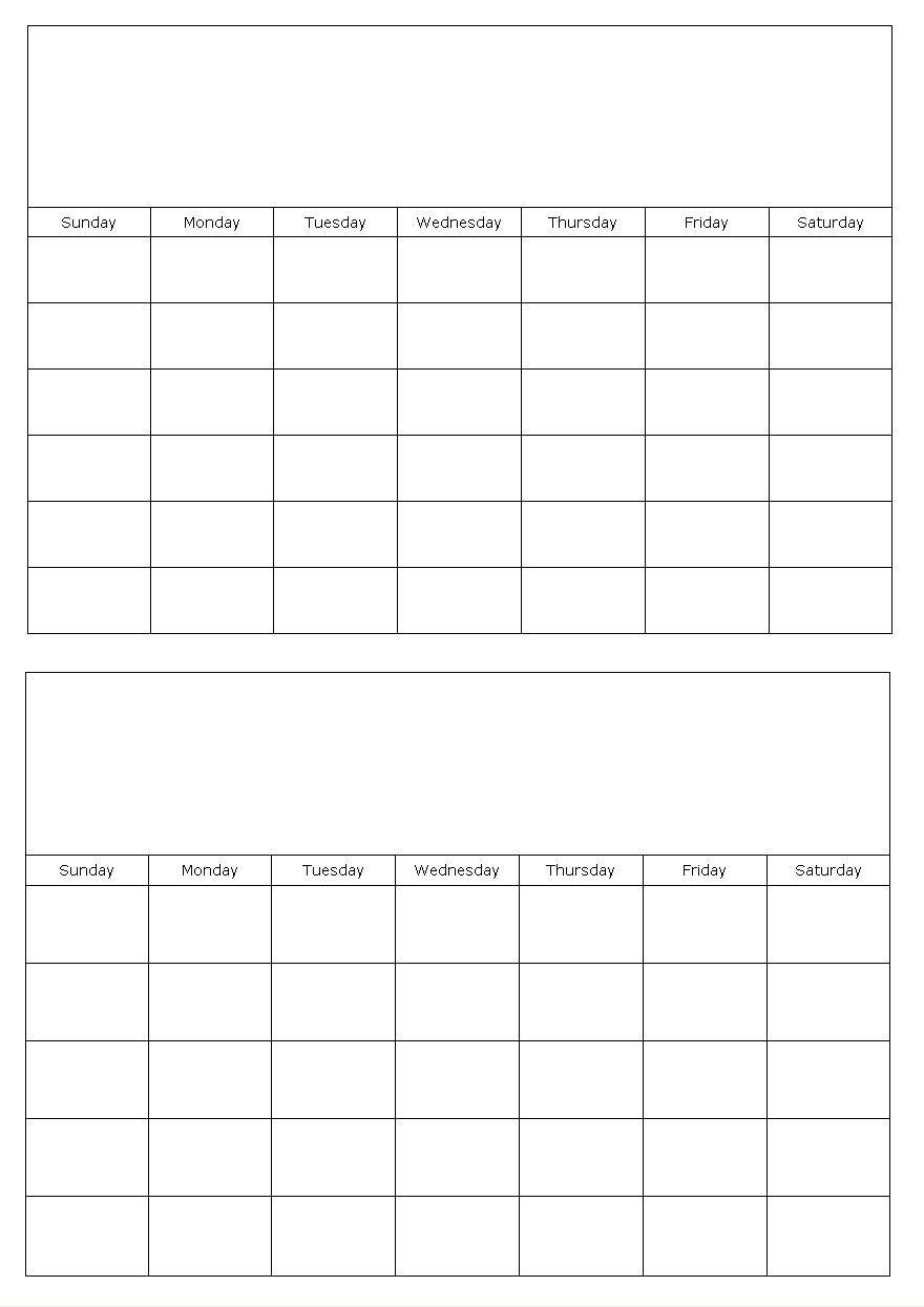 Free Printable Calendars Two Months Per Page Calendar 2017 Printable3abry