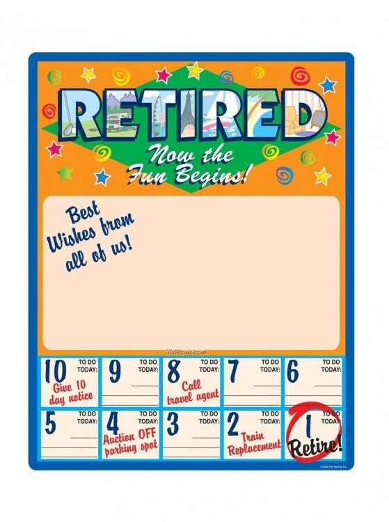 Funny Countdown Calendar For Retirement Calendar Printable Template