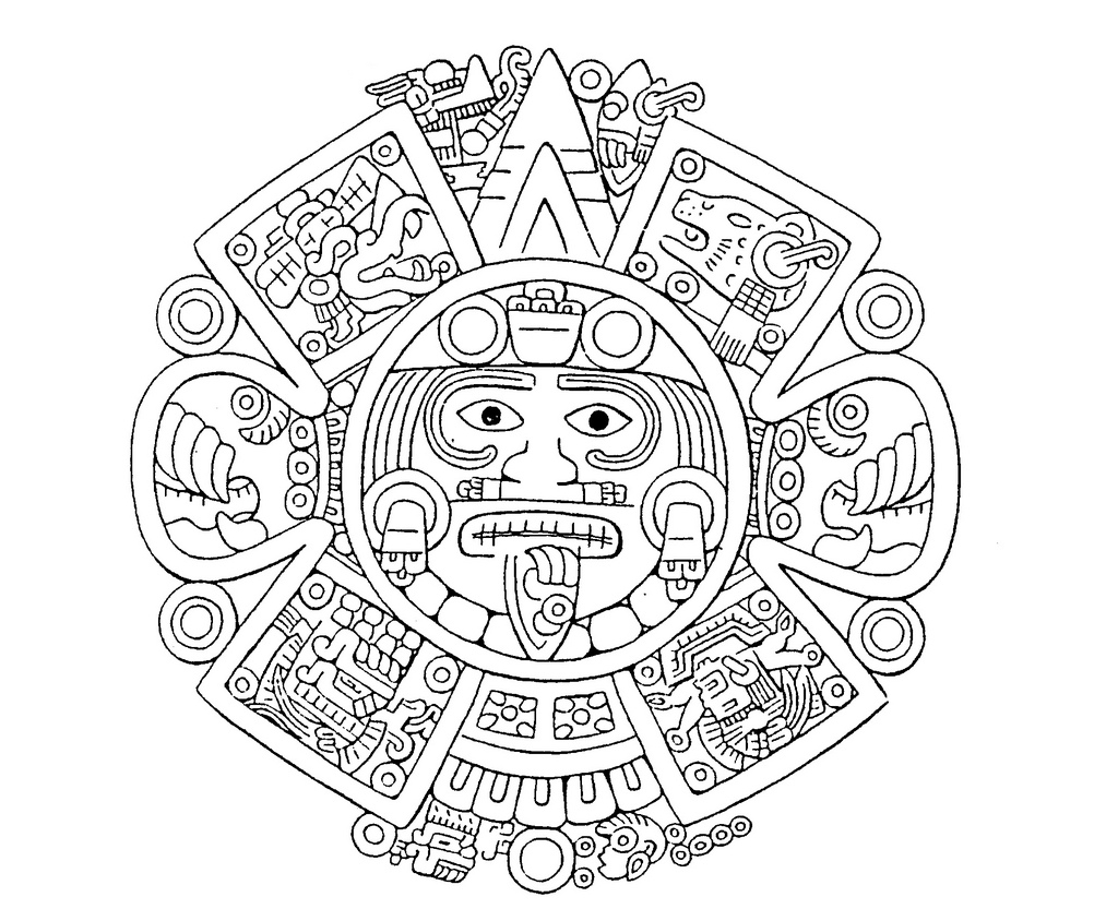 How To Draw A Aztec Warrior Patterns In The Aztec Calendar Cart3abry