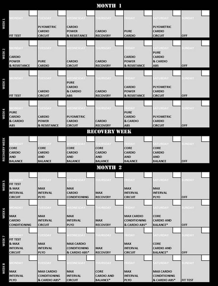 Insanity Workout Calendar Calendar Printable Free