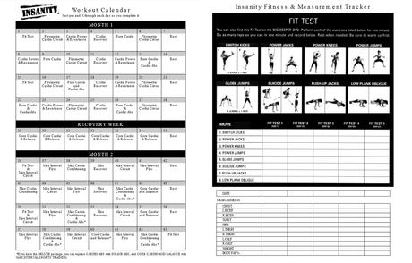 Insanity Workout Schedule Pdf Calendar Paperblog