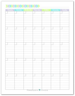 New Planner Printables Reader Request Blank Monthly Calendar