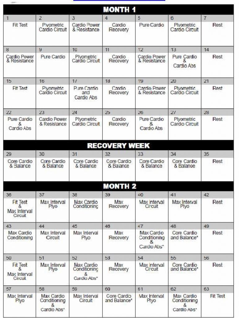 Printable Insanity Calendar Printable Online Calendar  Xjb
