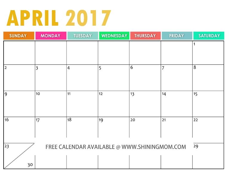 The Free Printable 2017 Calendar Free Printable Free