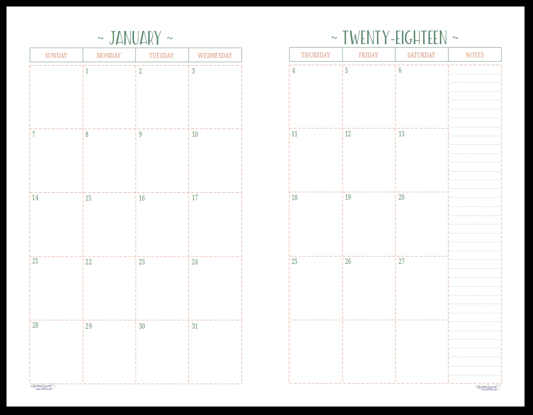Two Page Per Month 2018 Dated Calendars Are Ready Planners  Xjb